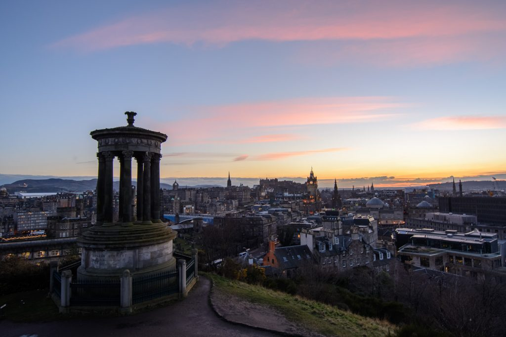 Edinburgh Calton Hill Sunset Sonnenuntergang