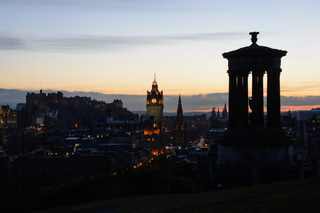 Edinburgh Calton Hill Sunset